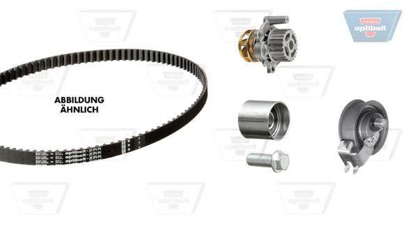 Водяной насос + комплект зубчатого ремня OPTIBELT KT1230W1