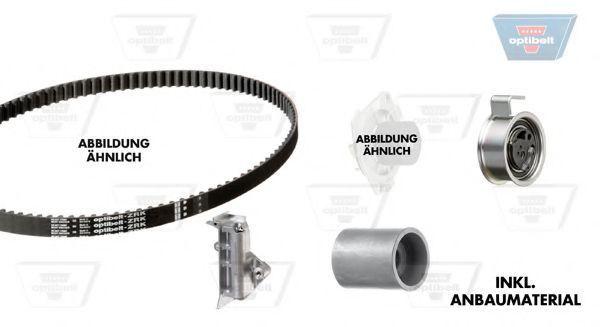 Водяной насос + комплект зубчатого ремня OPTIBELT KT1236W1