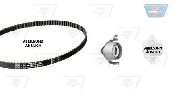 Водяной насос + комплект зубчатого ремня OPTIBELT KT1286W1