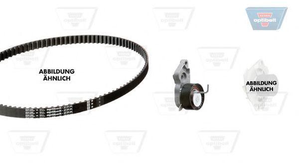 Водяной насос + комплект зубчатого ремня OPTIBELT KT1297W1
