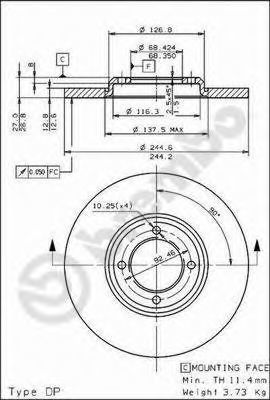 Тормозной диск BREMBO 08165920