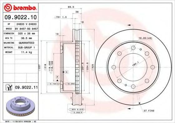 Тормозной диск BREMBO 09902211