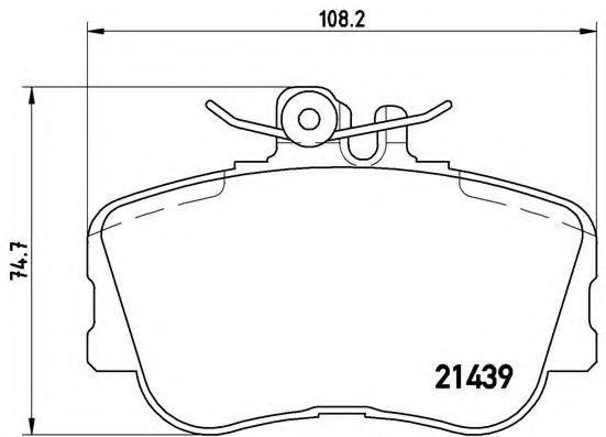 Купить Колодки тормозные BREMBO P06017