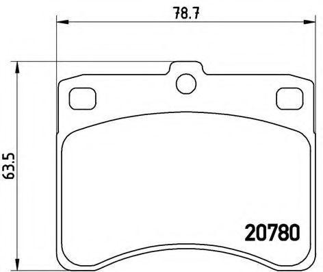 Комплект тормозных колодок, дисковый тормоз BREMBO P16003