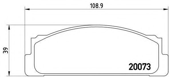 Колодки тормозные BREMBO P23003