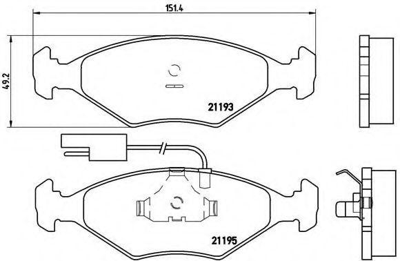 Комплект тормозных колодок, дисковый тормоз BREMBO P23039