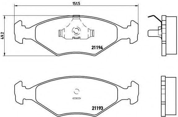 Колодки тормозные BREMBO P23040