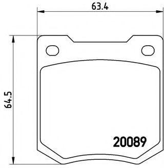 Колодки тормозные BREMBO P24003