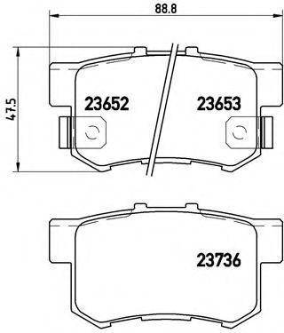 Колодки тормозные BREMBO P28039