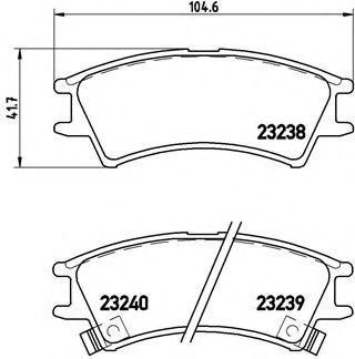 Колодки тормозные BREMBO P30011