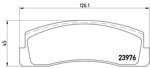 Колодки гальмівні BREMBO P 41 005