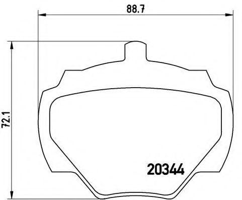 Колодки тормозные BREMBO P44001
