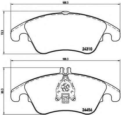Купить Колодки тормозные BREMBO P50069
