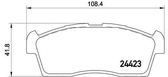 Комплект тормозных колодок, дисковый тормоз BREMBO P54049