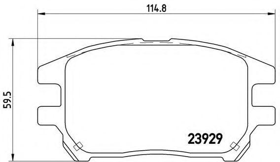 Купить Колодки тормозные BREMBO P56050