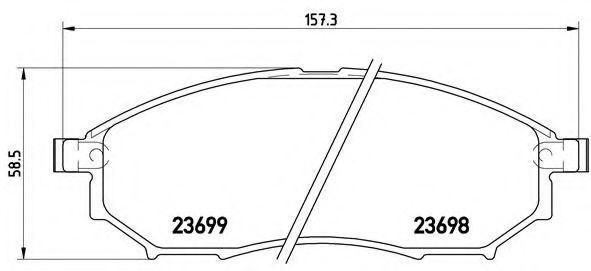 Колодки тормозные BREMBO P56058