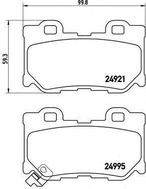 Колодки тормозные BREMBO P56095