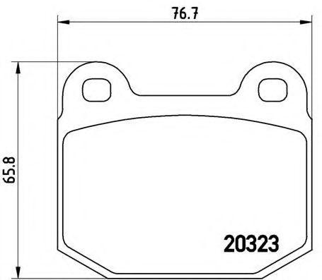 Колодки тормозные BREMBO P59025