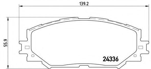 Колодки тормозные BREMBO P83082