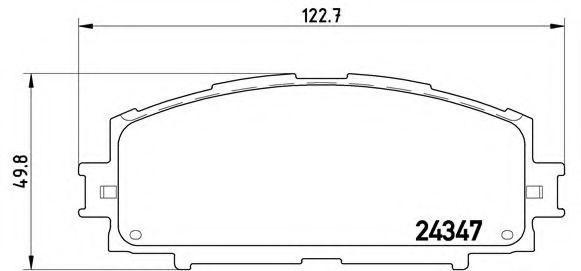 Колодки тормозные BREMBO P83086