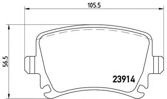 Купить Колодки тормозные BREMBO P85073