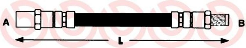 Тормозной шланг BREMBO T06003