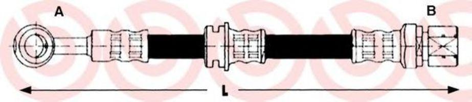 Тормозной шланг BREMBO T15004