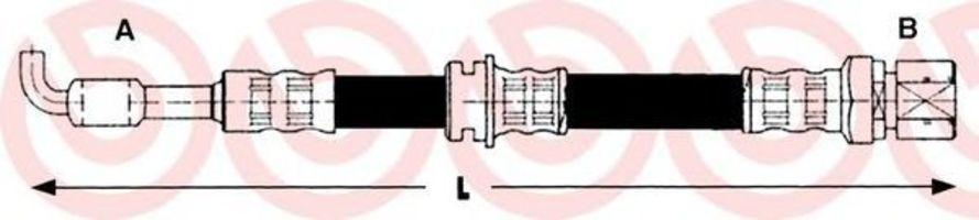 Тормозной шланг BREMBO T15005