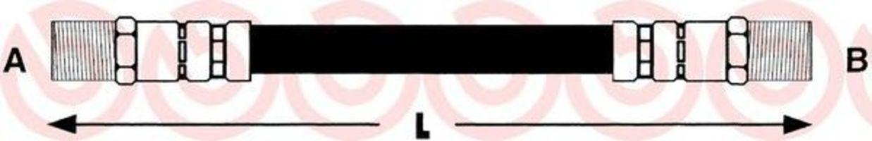 Тормозной шланг BREMBO T23121