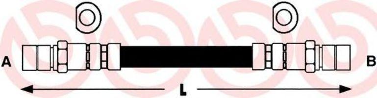 Шланг тормозной BREMBO T59002