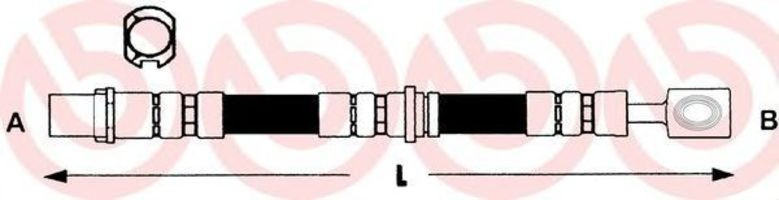 Тормозной шланг BREMBO T59013