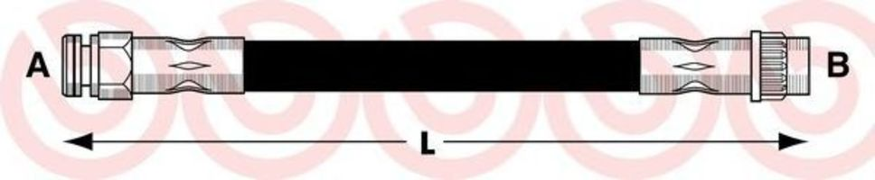 Тормозной шланг BREMBO T61052