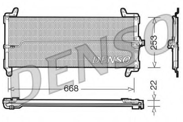 Конденсатор, кондиционер DENSO DCN09001