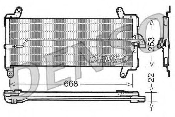 Конденсатор, кондиционер DENSO DCN09002
