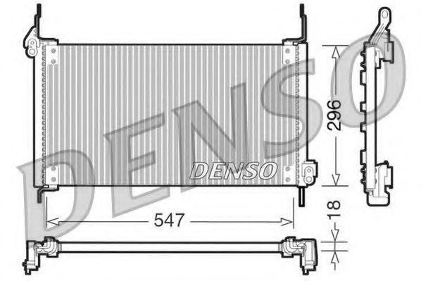 Радиатор кондиционера DENSO DCN09016