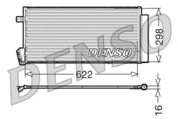 Конденсор кондиционера DENSO DCN09018
