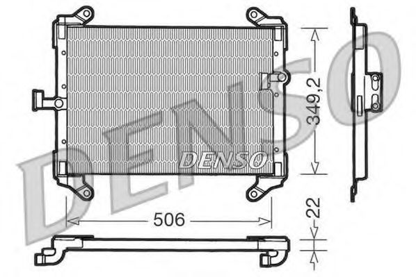 Конденсатор, кондиционер DENSO DCN09050