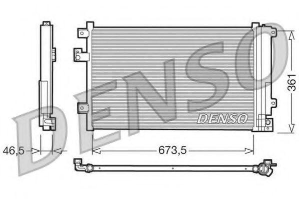 Радиатор кондиционера DENSO DCN09084
