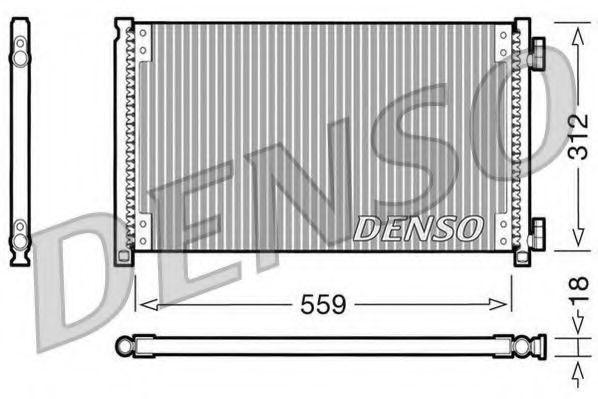 Радиатор кондиционера DENSO DCN09100