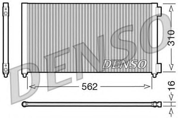 Радиатор кондиционера DENSO DCN09102