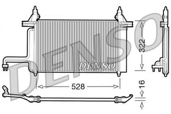 Радиатор кондиционера DENSO DCN09130