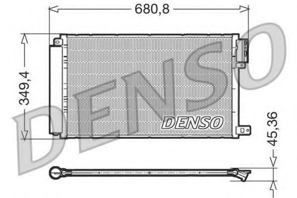 Конденсатор, кондиционер DENSO DCN09300