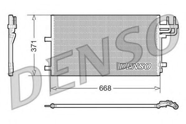 Радиатор кондиционера DENSO DCN10007
