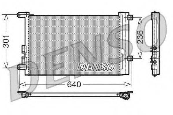 Конденсатор, кондиционер DENSO DCN01016