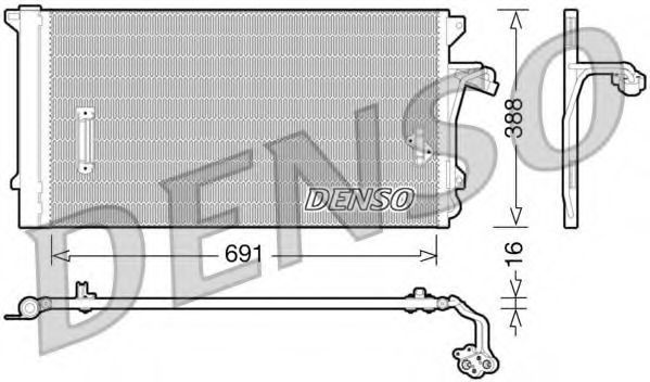 Радиатор кондиционера DENSO DCN0-2003