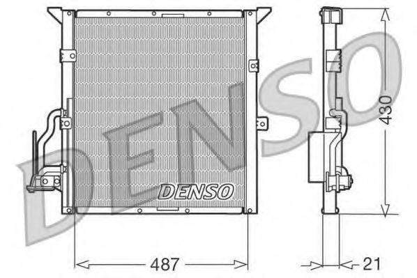 Радиатор кондиционера DENSO DCN05002