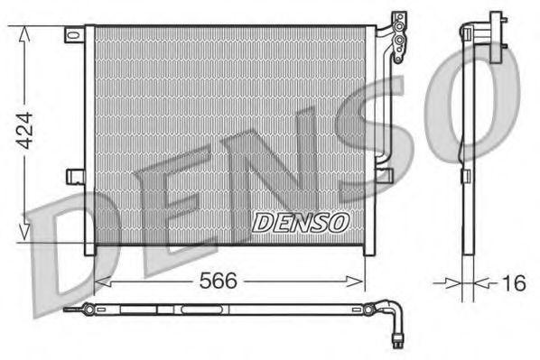 Конденсор кондиционера DENSO DCN05004
