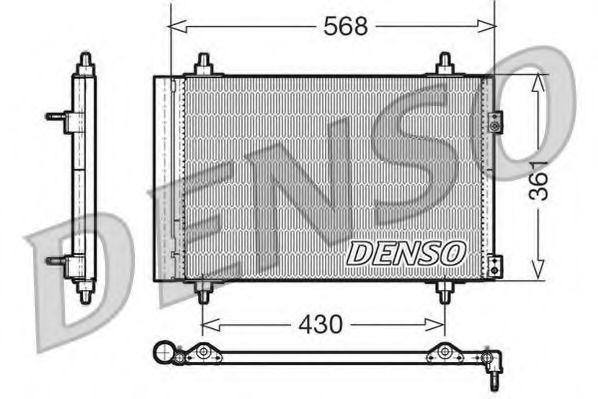 Радиатор кондиционера DENSO DCN070-08