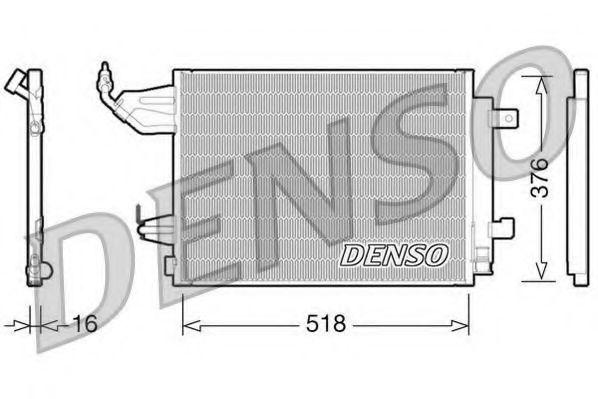 Радиатор кондиционера DENSO DCN16001