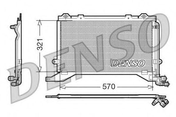 Радиатор кондиционера DENSO DCN17020